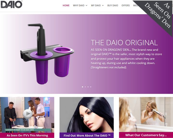 The DAIO Website Created By Customology