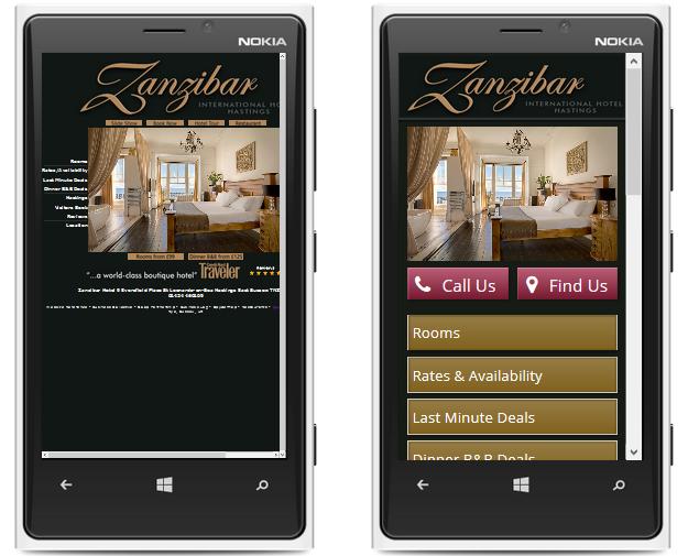 Zanzibar International Hotel Hastings Mobile Website