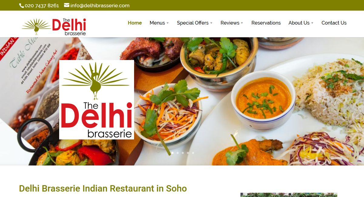 Delhi Brasserie Indian Restaurant London