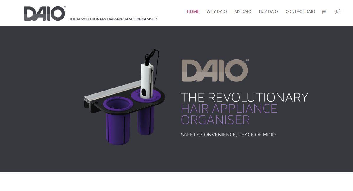 A Responsive Website for The DAIO Hair Appliance Organiser
