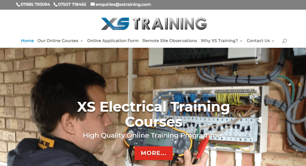 A Responsive Website for XS Training Limited