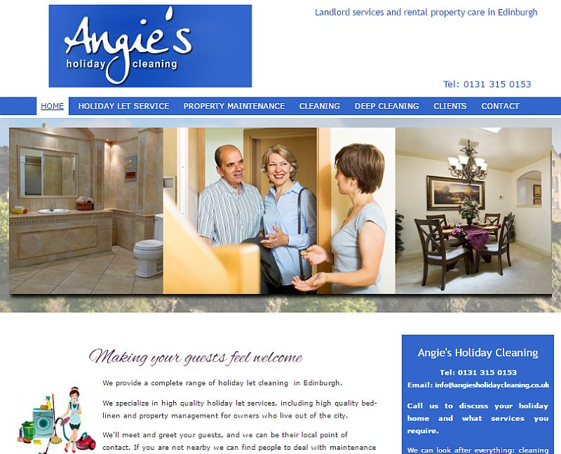 Edinburgh Cleaning & Concierge Website By Customology