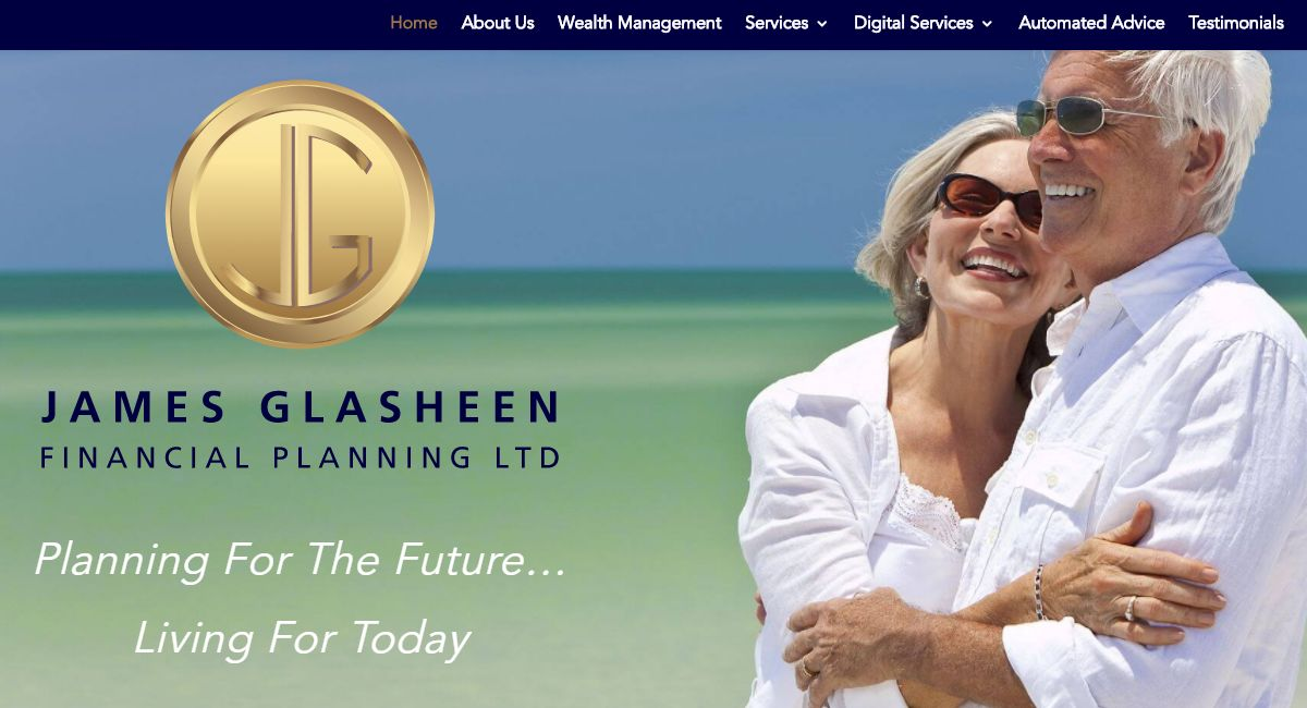 James Glasheen Financial Planning Ltd Website By Customology